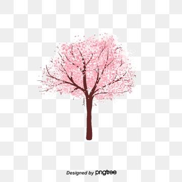 Cartoon Watercolor Cherry Tree Cherry Blossom Clipart Cherry Blossoms Cartoon Png Transparent Clipart Image And Psd File For Free Download Cherry Blossom Background Sakura Tree Watercolor Christmas Tree
