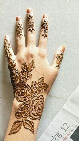 Pretty Roses Henna Tattoo Designs Henna Designs Hand Arabic Henna Designs