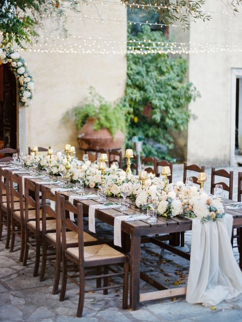 Old World Inspired Destination Wedding at Danilia Village in Greece #weddingtabledecor #weddingtablecenterpiece #weddingtableflowers