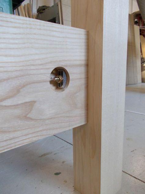 Invisible Bed Bolts Carpintaria Pe De Mesa Marcenaria