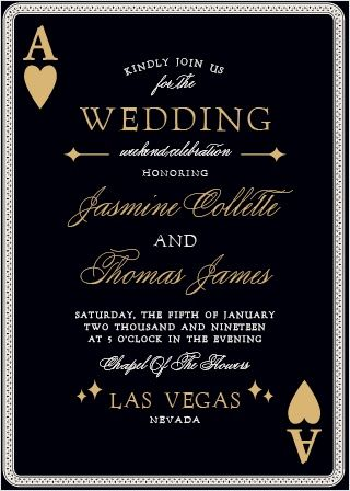 Vegas Wedding Invitation Template Vegas Wedding Invitations Vegas Wedding Foil Wedding Invitations