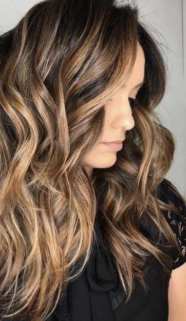 Haare highlights braune blonde Braune Haare: