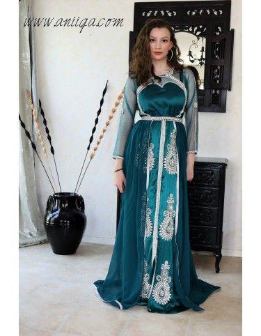 robe mariage orientale invitée moderne, caftan
