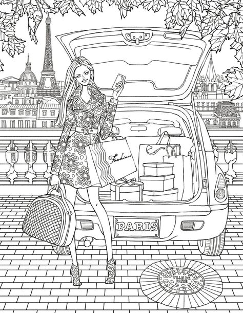 Paris colouring page   Coloring books, Coloring pages ...