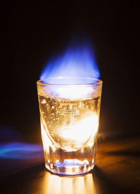 Hand Sanitizer In A Shot Glass For This Flaming Shot Effect