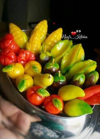 Resep Kue Buah Mini Thailand Kanom Look Choup Oleh Noof S Kitchen Resep Kue Buah Resep Kue Ide Makanan