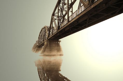 This train bridge can be found in Fredericton, New Brunswick. Love getting a shot like this.
