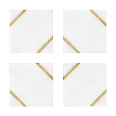Quality   value   style   the best selection of furniture. 4 Marble Inlay Coasters   Marble inlay, Gold coasters ...