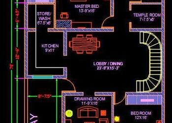 House Architectural Space Planning Floor Layout Plan 20 X50 Free Dwg Download Autocad Dwg Plan N Design Floor Layout House Layout Plans How To Plan