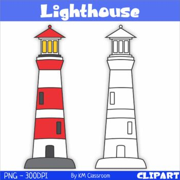 Lighthouse Clipart Set Includes 2 Images 1 Color 1 Line Art All Images Are In Png Format Transparent High Resoluti Clip Art Lighthouse Clipart Lighthouse