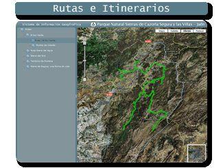 Acceso a mapa rutas del parque