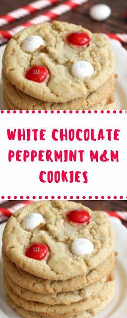 White Chocolate Peppermint M M Cookies Christmas Cookies Alfia