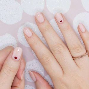21 Simple Heart Nail Designs Heart Nail Designs Heart Nails Nail Designs
