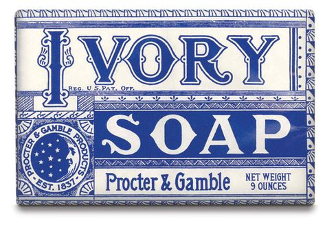 IVORY SOAP early packaging - bring this design back!