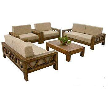 Sarswati Furniture Sheesham Sofa Set For Living Room Wood Furniture Wooden Sofa Set 3 2 1 1 7 Seater Sofa In 2020 Furniture Wooden Sofa Set Wooden Sofa Set Designs