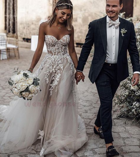 Ivory+Appliques+Long+Wedding+Dress,Floor+Length+Wedding+Dress<br> Contact+me:<b>wendy1990919@yahoo.com</b><br> <b>Shown+Color:+Ivory</b><br> <b>Fabric:+Tulle</b><br> 1.+Besides+the+picture+color,+you+can+refer+to+our+color+swatch+to+choose+any+color+you+want.+<br> 2.+Besides+stand+size+2-16,...