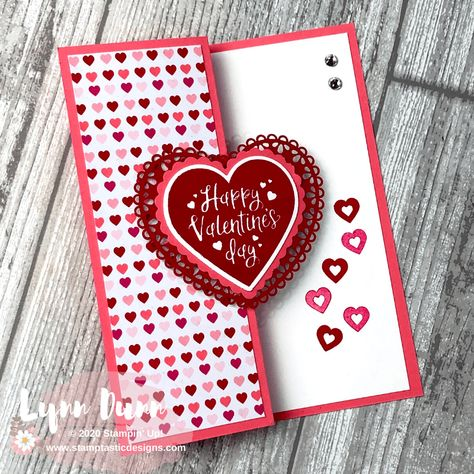 4 simple fun fold cards to make for Valentine's Day. These are pretty quick and simple card designs that are sure to WOW your family and friends. Fun Fold Cards, Folded Cards, Joy Fold Card, Fun Cards, Baby Cards, Simple Card Designs, Valentines Day Cards Handmade, Valentine's Day Handmade Cards, Creative Cards