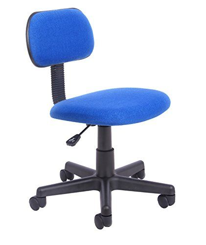 Office Essentials Height Adjustable Desk Chair Blue 34 5