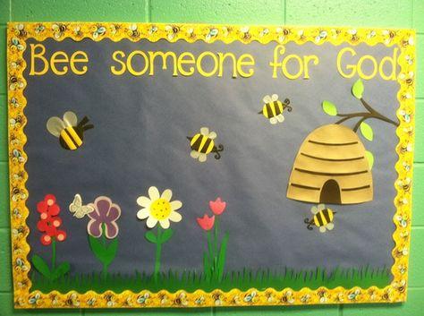 bulletin boards for church   Kids Bulletin Boards/Church / Spring bulletin board