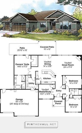 3 Bedroom 2 Bath Cottage House Plan Alp 097h In 2020 Dream House Exterior House Plans One Story House In The Woods