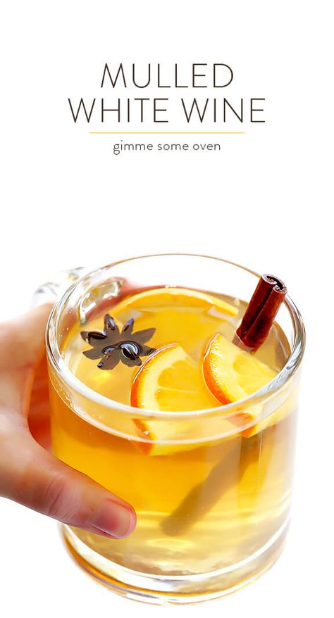 Mulled White Wine Recipe -- easy to make, and so deliciously warm and comforting Wine Cocktails, Cocktail Recipes, Wine Recipes, Holiday Cocktails, Sangria Wine, Cocktail Parties, Wine Parties, Mulled White Wine, White Wine Cocktail