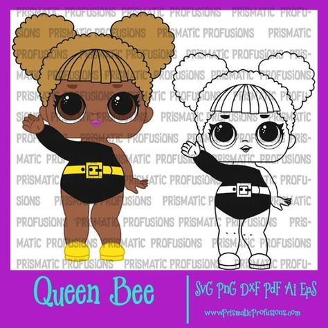 Queen Bee Lol Doll Lol Doll Fan Art Check Out Some Other Designs By Visiting Http Bit Ly 2uzu4c8 Prismaticprofusions Lol Lol Dolls Lol Dolls