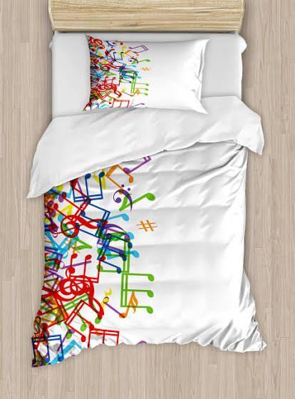 Music Themed Bedding Duvet Cover Sets Colorful Duvet Covers Music Bedroom