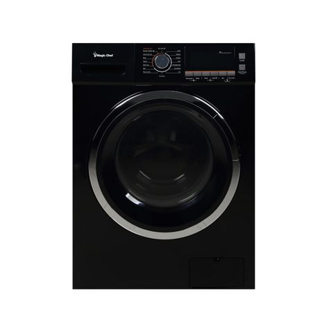 Magic Chef Mcscwd20 24 Inch Wide 2 0 Cu Ft Front Loading Electric Washer Dry Black Washer Dryer C Ventless Washer Dryer Washer And Dryer Washer Dryer Combo