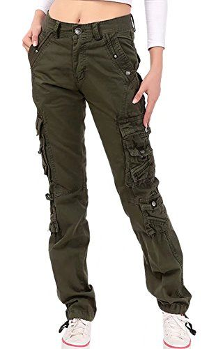 Alion Mens Cargo Casual Hip-Hop Loose Outdoor Work Multi-Pockets Pants
