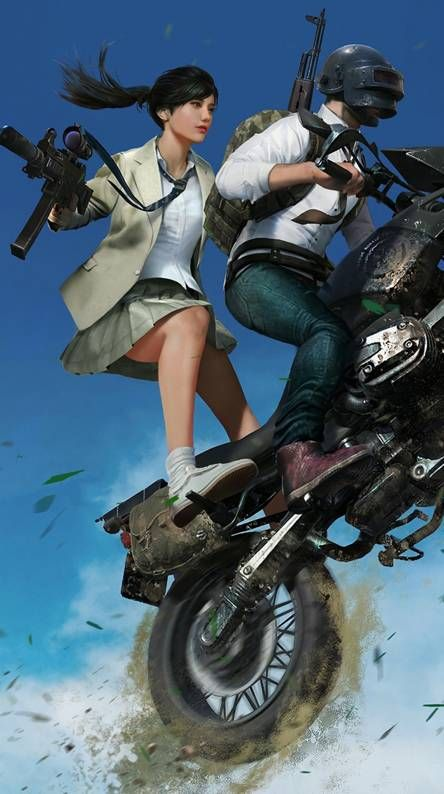 Best Pubg Girl Wallpaper With Boy On Bike With Images Game