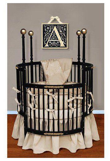 Baby Doll Bedding Sensation Round Crib Bedding Set - Gold - Best Price |  Lil' Dons & Divas | Pinterest | Round cribs, Doll bedding and Crib bedding  sets