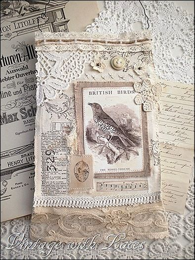 bird collage by Vintage with Laces