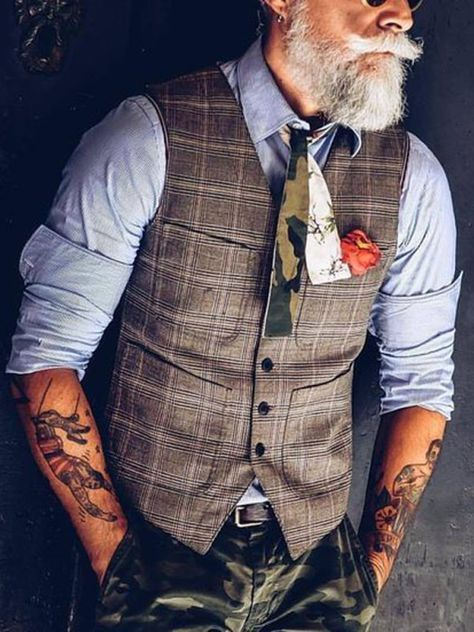 Temperament British Style V-neck Single Row Button Patch Pocket Slim Vest Temperament British Style V-neck Single Row Button Patch Pocket Slim V – Carbonhot Chaleco Casual, Latest Fashion Clothes, Fashion Outfits, Mode Vintage, Mens Clothing Styles, Menswear, Slim, V Neck, Mens Fashion