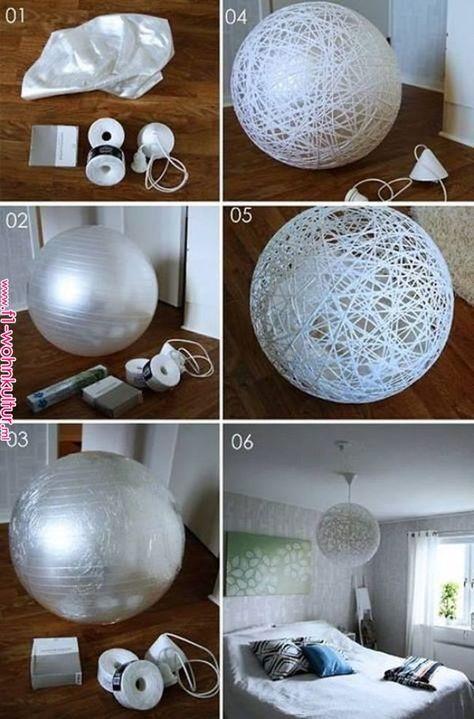 Vyrobte si lampu z krajek - Alaskacrochet.com