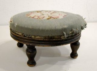 Reupholster A Very Old Footstool In 2020 Upholstered Footstool Reupholster Reupholster Furniture