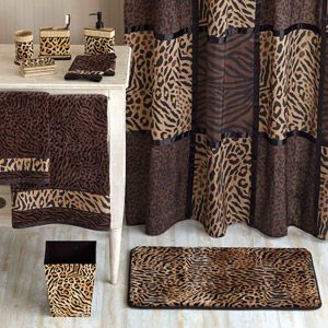 better homes and gardens animal print bathroom collection bundle rh pinterest com Animal Print Shower Curtain Animal Print Shower Curtain