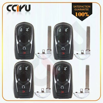 Advertisement Ebay 4x New Uncut Smart Keyless Remote Key Fob