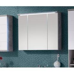 Delife Spiegelschrank Petre 80 Cm Grau Beton Optik Led Beleuchtung