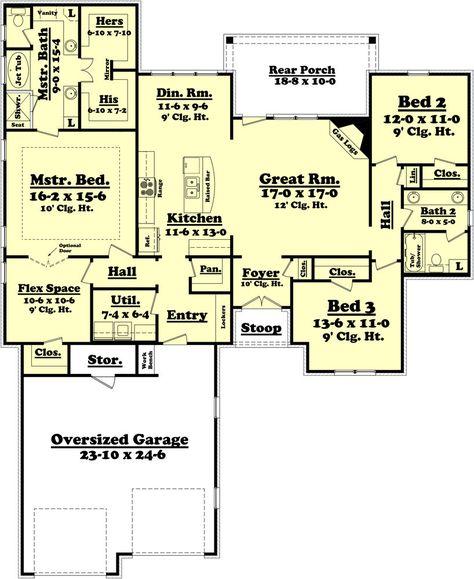 Brookline House Plan In 2020 Brick House Plans Ranch House Plans Best House Plans