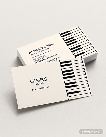 Musician Business Card Template Word Doc Psd Apple Mac Pages Illustrator Publisher Music Business Cards Musician Business Card Business Card Template Word
