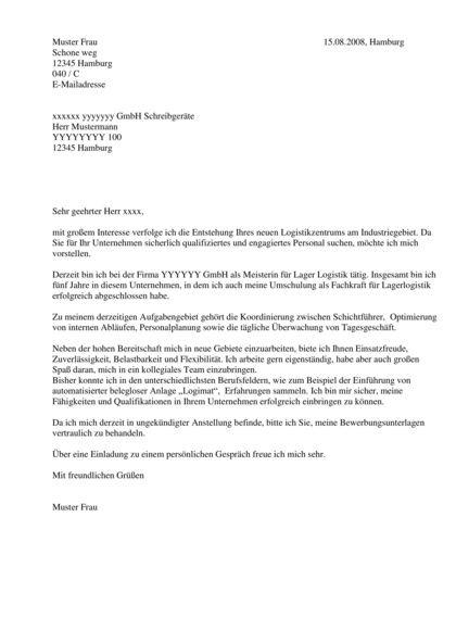 Bewerbungsschreiben Vorlage Industriekaufmann