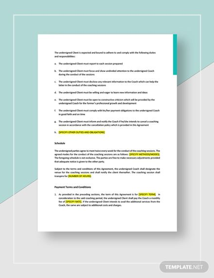 Business Coaching Agreement Template Ad Ad Coaching Business Template Agreement In 2020 Coaching Business Coaching Templates
