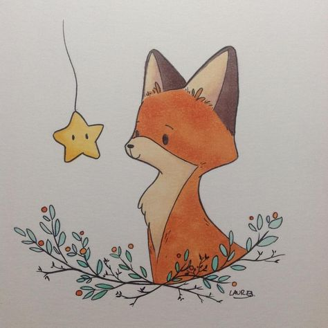 Just a little doodle to try another style for this character. Hum, I don't know yet which one I prefer. I also tried my new kuretake pen. I think they are amazing 😀. #instaart #art #illustration #fox #redfox #animal #character #copic #kuretake #blackink #story #children