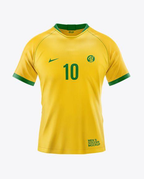 Download T Shirt Soccer Mockup In Apparel Mockups On Yellow Images Object Mockups Shirt Mockup Design Mockup Free Clothing Mockup