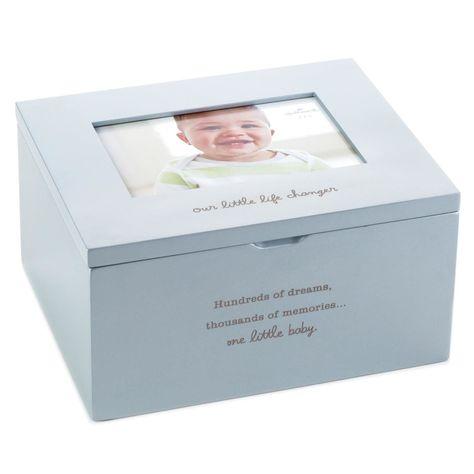 Silver Plated Baby Keepsake Box Baby Memory Box Baby Photo Keepsake Box