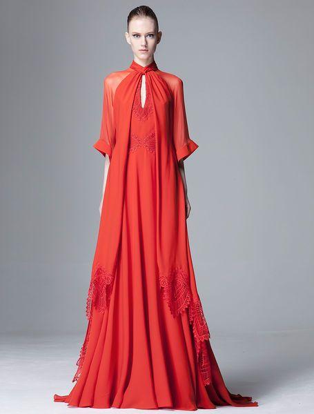 Salas Bogazli Kirmizi Abiye Modelleri Kadinlive Com Moda Stilleri The Dress Couture