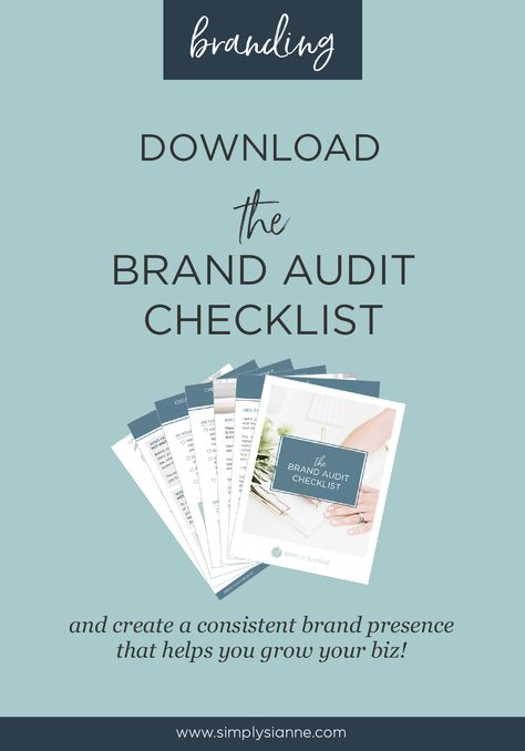 Brand Audit | Simply Sianne