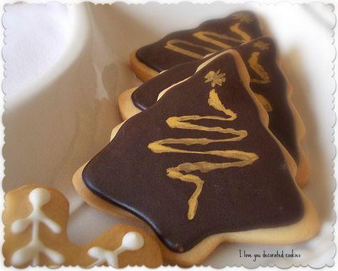 I love you...decorated cookies!!: Nuestra estupenda glasa real... ¡de chocolate!