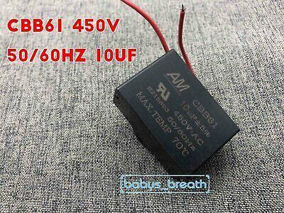 Ad Ebay Url 3electric Machine Capacitor Cbb61 450v 50 60hz 10uf 2 Wire Motor Ceiling Fan New Ceiling Fan Motor Fan Motor Ebay