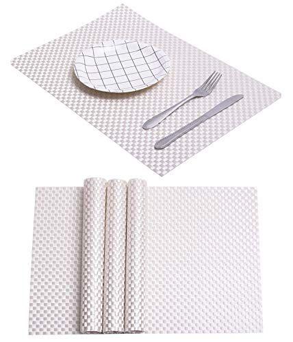 Spring Dining Table Mat Kitchen Woven Plastic Rectangular Https Www Amazon Com Dp B07gsk6lml Ref Cm Sw R Pi Dp U X Bvc Table Mats Dining Table Folding Mat